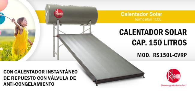 Calentador De Agua Boiler Solar Plano Cap 150 Litros Gas
